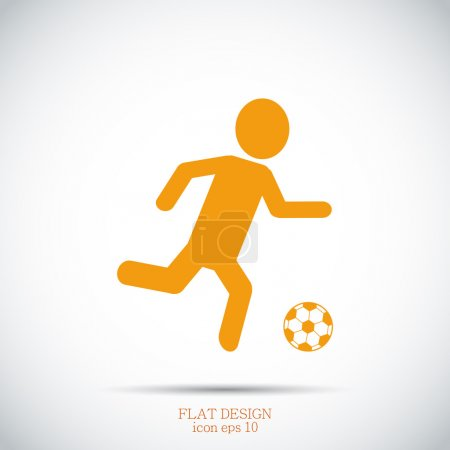 Soccer, football player silhouette