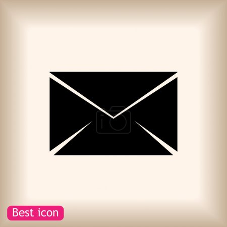 Black envelope icon