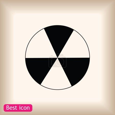signe radioactif icône pulvérisée