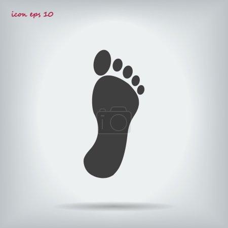Illustration pour Icône d'empreinte noire sur fond clair - image libre de droit