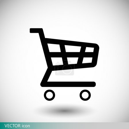 Illustration for Shopping chart icon vector illustration - Royalty Free Image