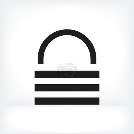 Illustration pour Icône de verrouillage de sécurité illustration vectorielle - image libre de droit