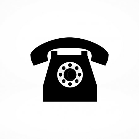 old phone flat icon