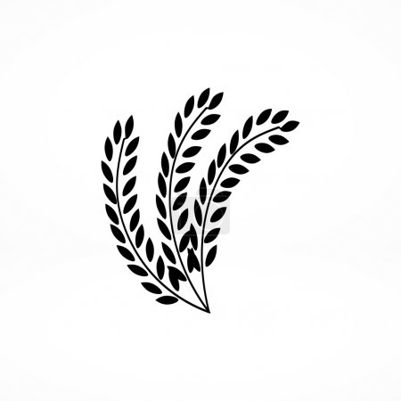 Illustration for Wheat crop icon. vector illustration - Royalty Free Image