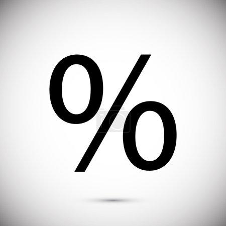 Illustration pour Finance pourcentage icône vectoriel illustration - image libre de droit