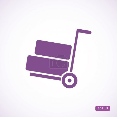 delivery wheelbarrow icon