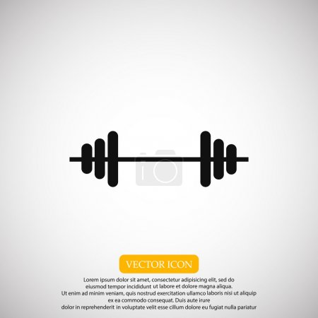 sport barbell icon