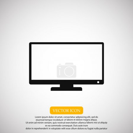 Illustration for Television screen icon vector illustration - Royalty Free Image