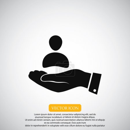 businessman in hand icon