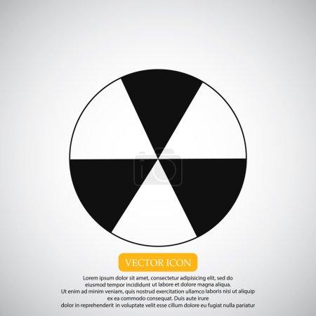 signe radioactif sur l'icône du barillet métallique