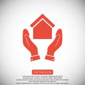 Hands and house icon vector illustration
