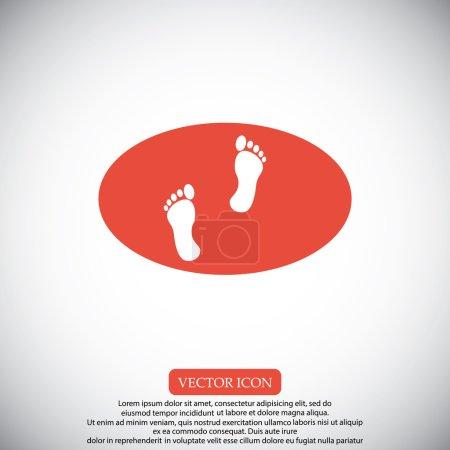 Illustration pour Illustration vectorielle d'icônes empreintes - image libre de droit