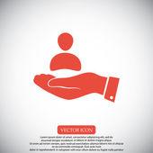 Podnikatel v ikona ruky