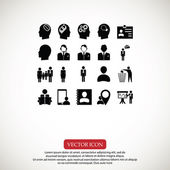 Business man icons set