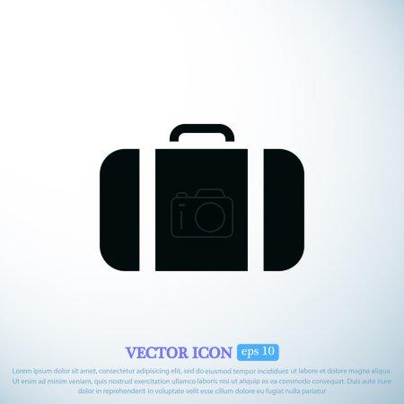 bag icon on light background