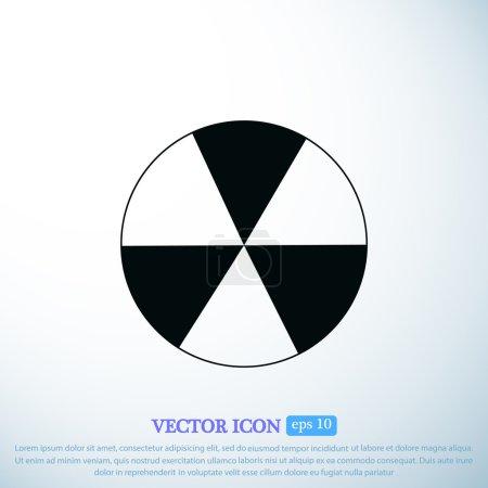 signe radioactif pulvérisé sur l'icône du canon