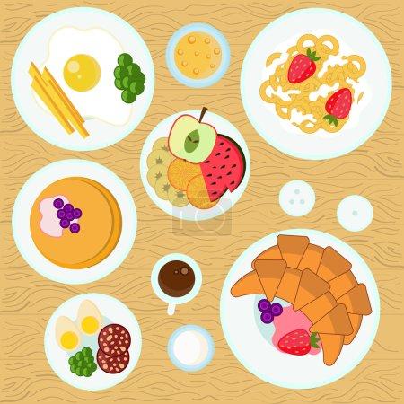 Breakfast vector illustration.