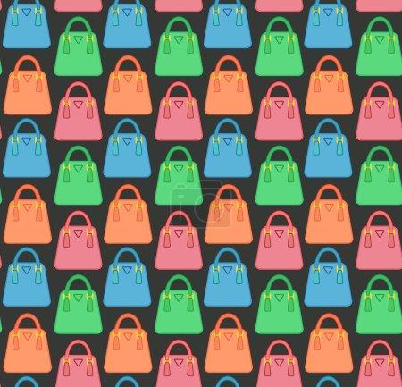 Set of multicolored female bags