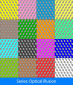 Abstract colorful geometric seamless pattern background with Optical illusions: Cubes This is vector illustration ideal for web and app template book cover fabric and gift wrap design
