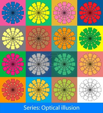 Optical illusions: Squares