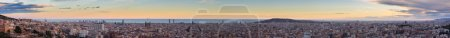 Panorama view of Barcelona from Park Guell in sunn...