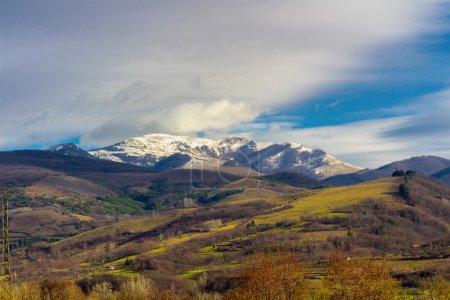 Carpathian mountains landscape.