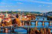 """Постер, картина, фотообои """"Весной Прага панорама с холма Прага"""""""