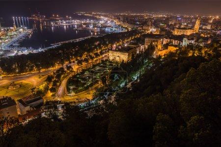 Nightview of Malaga city
