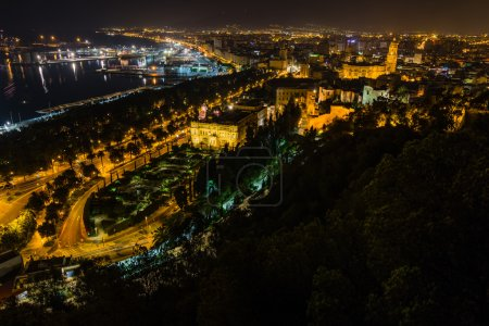 Nightview of Malaga city
