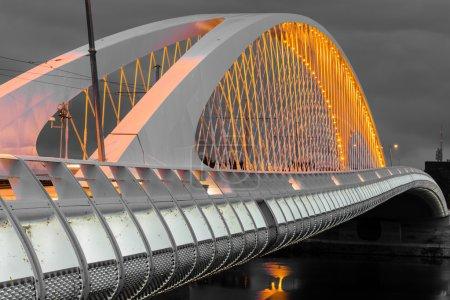 Night view of the Troja Bridge