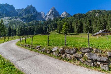 Beautiful landscape of mountains and lake