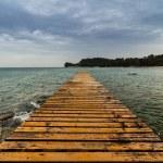 Wood pier on the beach...