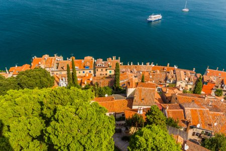 Aerial shoot of Old town Rovinj