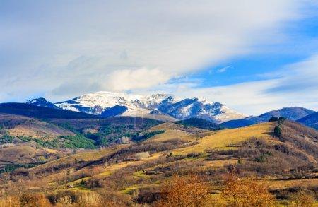 Landscapes of carpathian mountains