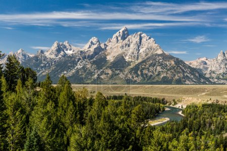 Views of the Grand Teton National Park and the Snake River