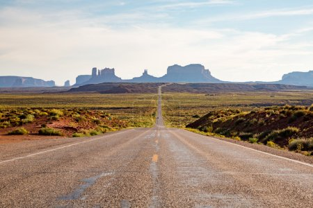 Photo for Road near Monument Valley in Utah, summer, USA - Royalty Free Image