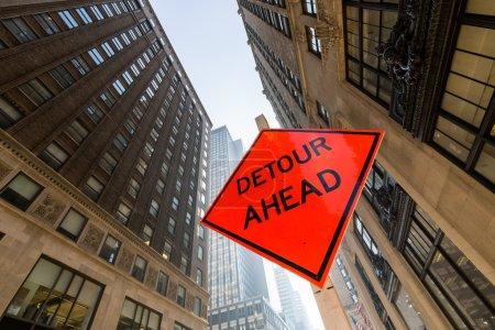 Foto de Detour sign in New York - Imagen libre de derechos