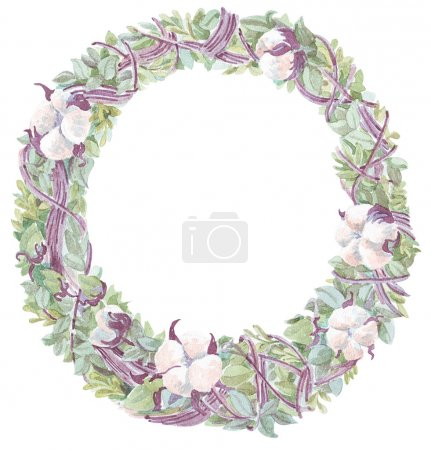 wreath background watercolor illustration