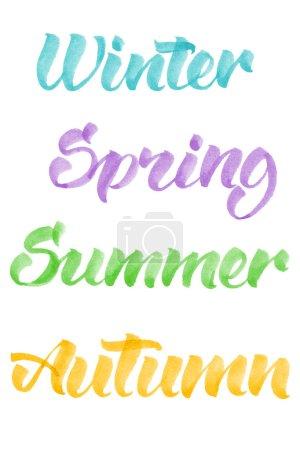 seasons calligraphy by brashpen