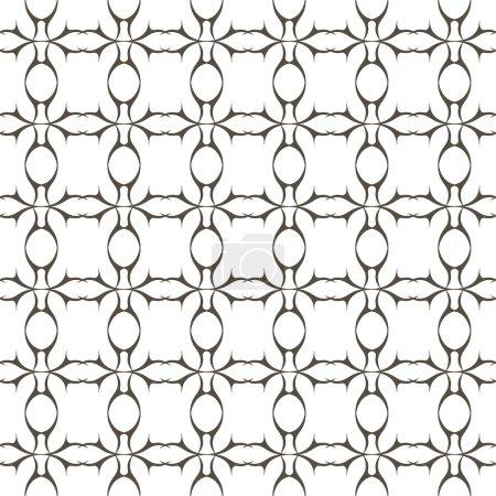 Illustration pour Modèle sans couture. Texture vectorielle abstraite. Élégant motif géométrique sur fond blanc. Peut être utilisé pour papier peint, textiles, papier d'emballage, remplissage de page, conception, page Web, fond . - image libre de droit