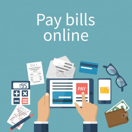 Pay bills online.