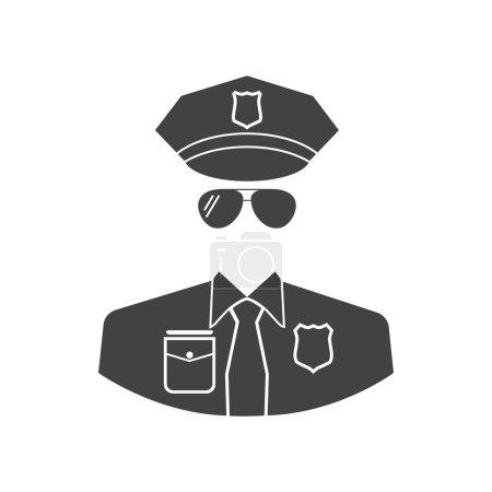Cop icon vector.