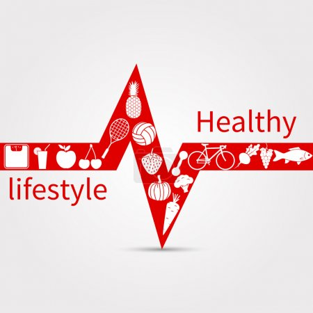 Illustration for Healthy lifestyle concept. Vector illustration - Royalty Free Image