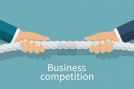 Concept of business competition.