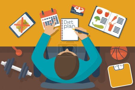Diet plan vector