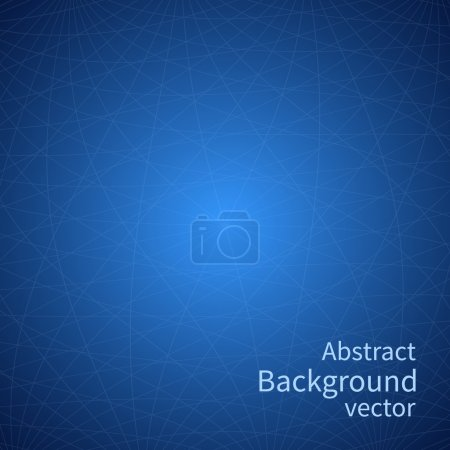Illustration for Abstract background vector. Lines on a blue background. Design graphic. Network background. Vector illustration - Royalty Free Image