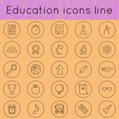 education icons line 02