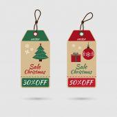 Vánoční prodejní značka