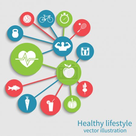 Healthy lifestyle background. Concept health, spor...