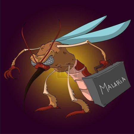 Vector Cartoon Mosquito.